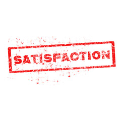 Vector satisfaction red stamp