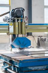 stone cutting machine closeup