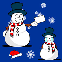 snow man cartoon xmas set6