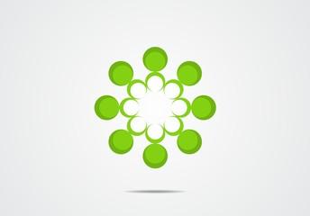 flower, icon, logo, team work, symbol, eco, green