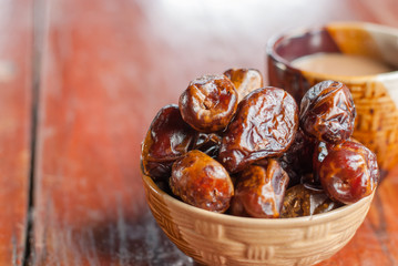 Dried date palm fruits