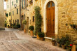 Old vintage street in an Italian village