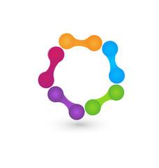 Logo hi-tech icon vector.