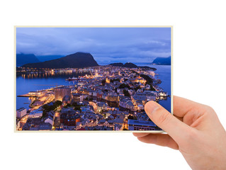 Norway travel photography in hand (Alesund)