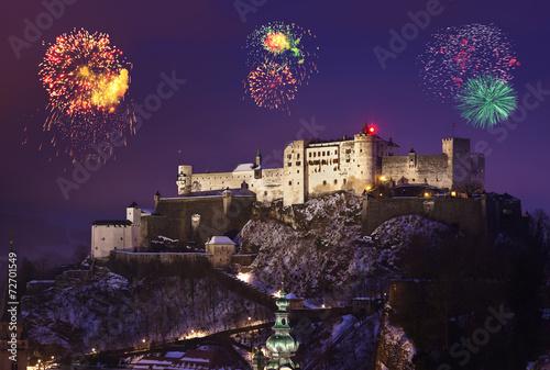 Fireworks in Salzburg Austria - 72701549