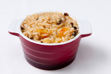 vegetarian mushroo and tomato risotto