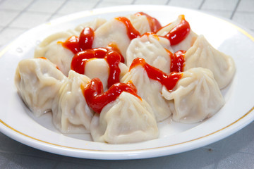 dumplings and khinkali as an element of fast food