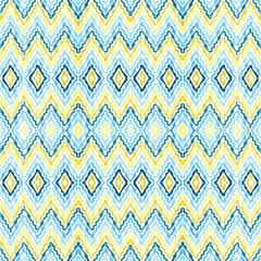 Abstract blue - yellow  seamless zigzag pattern