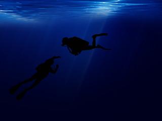Sea diving.