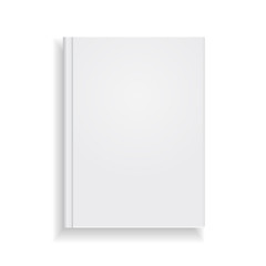 Magazine cover vector on white background