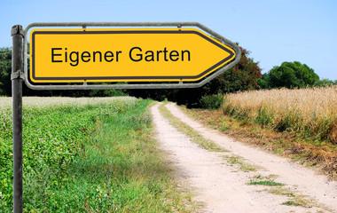 Strassenschild 21b - Eigener Garten