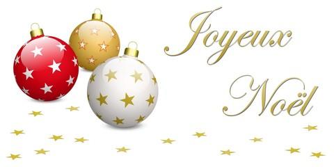 Joyeux Noël, boules et étoiles