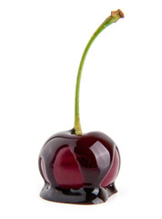 cherry in a chocolate