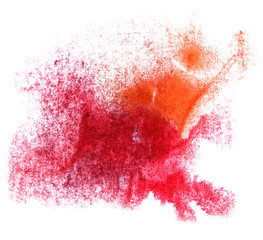 art red orange watercolor ink paint blob watercolour splash col