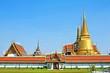 Wat Phar Kaew on blue sky