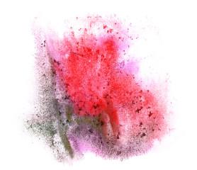 art watercolor red, black ink paint blob watercolour splash colo