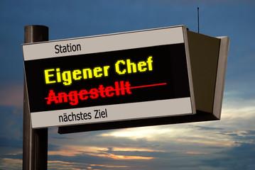Anzeigetafel 4 - Eigener Chef