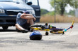 Bike accident and a boy