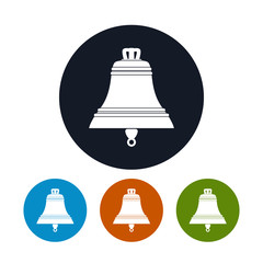 Bell icon, vector illustration