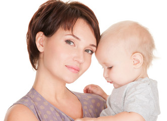 Young pretty mother with baby
