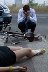 Car bike accident