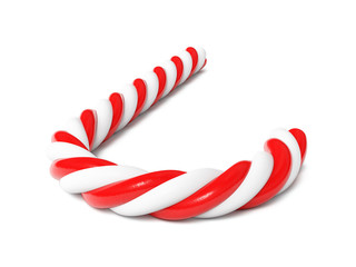 Chrismas candy cane isolated