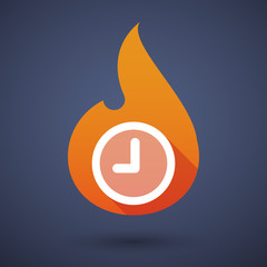 Flame icon with a clock