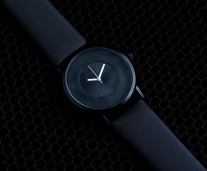Luxury clock over black