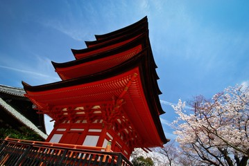 Japanese traditional red pagoda