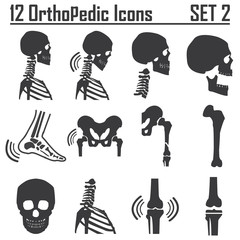12 Orthopedic and spine symbol Set 2