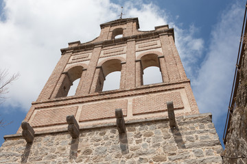 Ancient bell tower in Avila, Castile and Leon, Spain