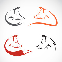 Vector image of an fox design