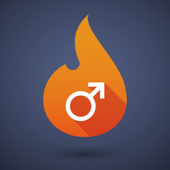 Flame icon with a male sign