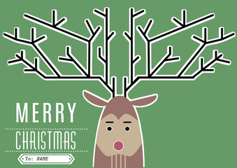 Reindeer Merry Christmas