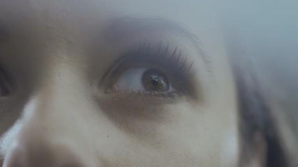Closeup footage of a woman