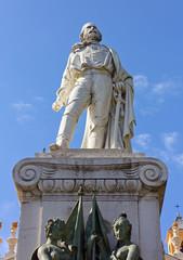 Garibaldi Statue in Garibaldi Square in Nice