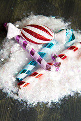 Christmas stripy candy cane decoration