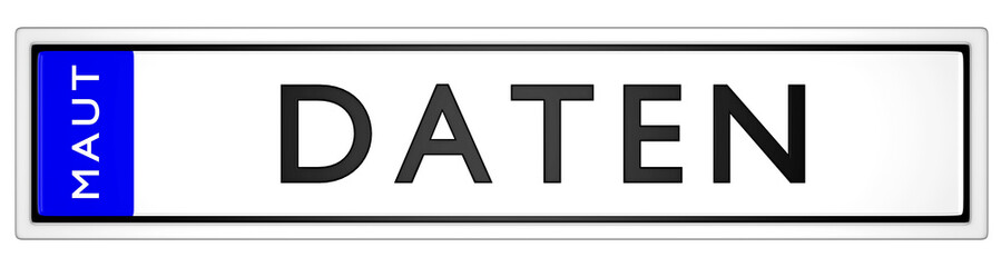 Maut Daten / KFZ Kennzeichen