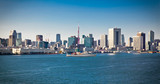 Fototapeta Panoramic view on Tokyo from Sumida River, Japan.