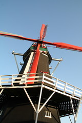 "Dutch windmill ""De Hoop"" in the village Norg"