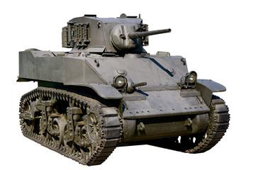 Light tank Stuart isolated