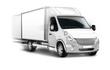 canvas print picture - Kleintransporter, Kastenwagen isoliert, freigestellt