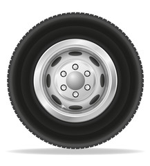 wheel for truck tracktor and van vector illustration
