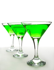 glasses with a martini