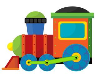 Cartoon train - caricature - illustration for the children