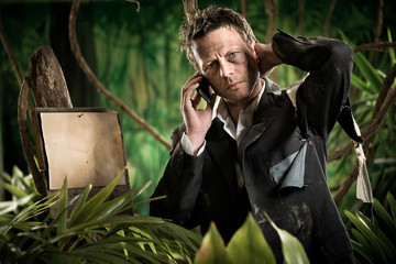 Businessman lost in jungle calling for help