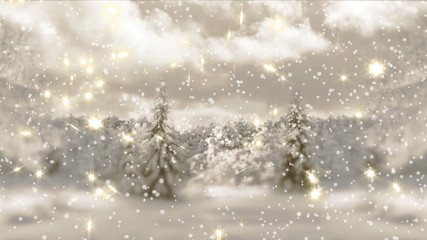 4k.New Year,christmas,3d winter background