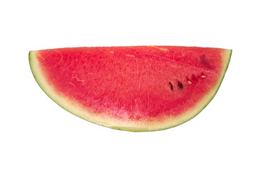 Quarter section of red watermelon