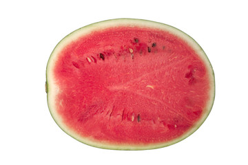 Half section of red watermelon