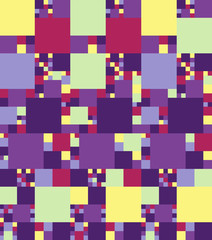Abstract bright colorful seamless pattern. Vector illustration